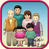 人物イラストの参考画像・家族