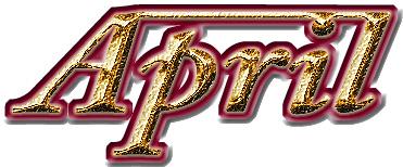 Aprilの立体ロゴ