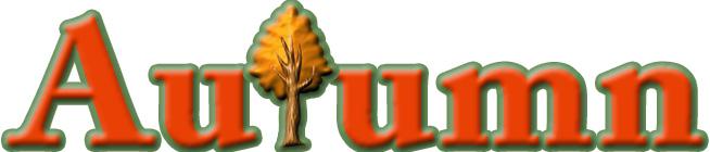 「Autumn」の木型ロゴ1