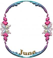 「June」のフレーム素材