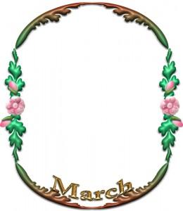 「March」の飾り枠