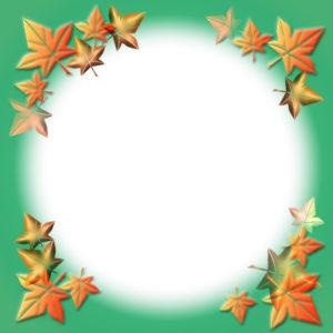 紅葉の飾り枠イラスト