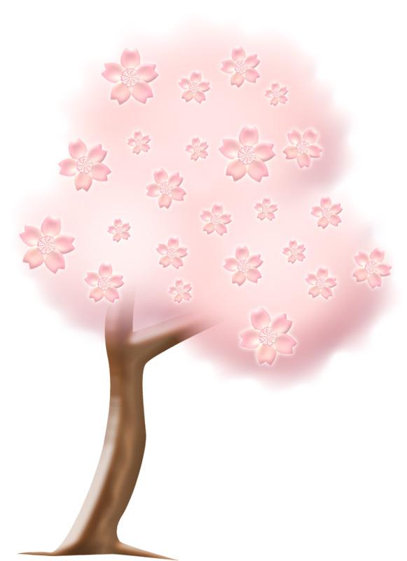 満開の桜の木 イラストが無料のddばんく
