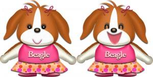 ビーグル犬・♀夏服のイラスト