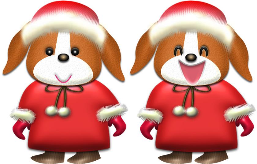 ビーグル犬・♀冬服のイラスト