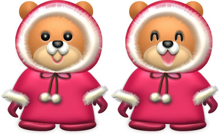 クマ・♀冬服のイラスト