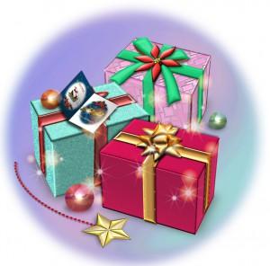クリスマスプレゼントの箱のイラスト