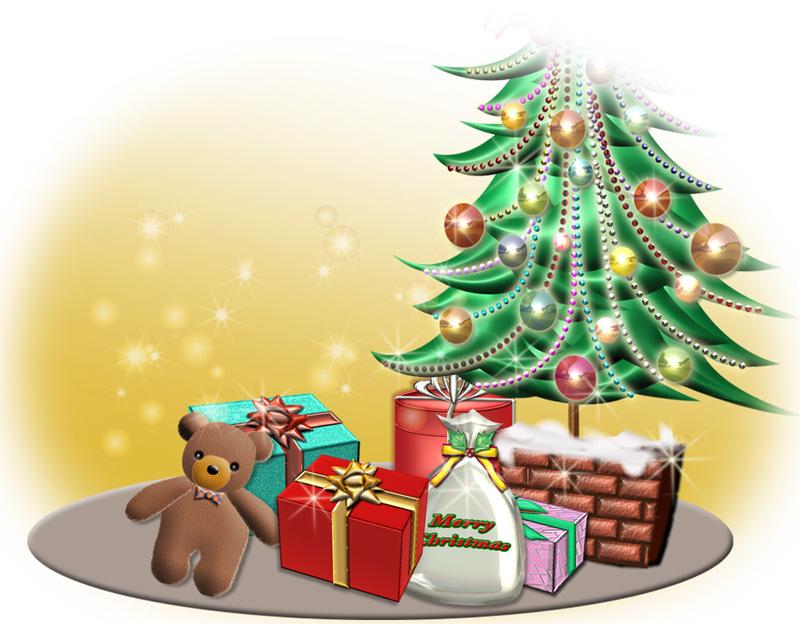 ツリー周りのクリスマスプレゼント
