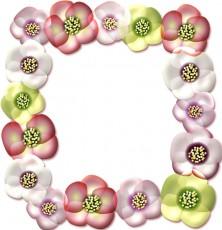 クリスマスローズの花の枠イラスト