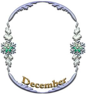 「December」のフレーム素材