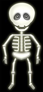 ハロウィンの骸骨のイラスト