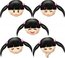 女の子の顔・表情別のイラスト集