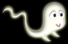 ハロウィンの幽霊のイラスト
