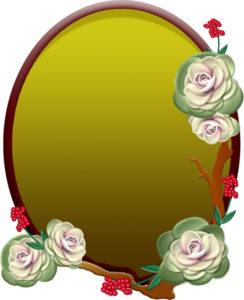 葉牡丹のプレートのイラスト