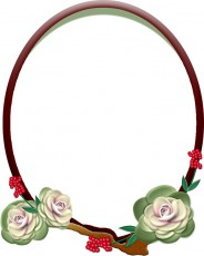 葉牡丹の飾り枠のイラスト