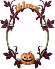カボチャ提灯の飾り枠イラスト