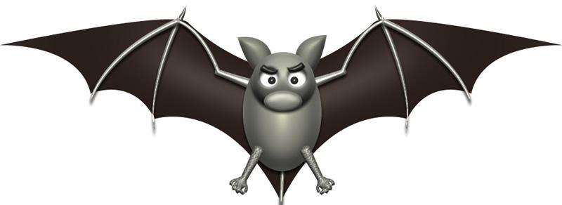 可愛いハロウィンの蝙蝠 イラストが無料のddばんく