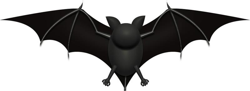 黒コウモリのイラスト