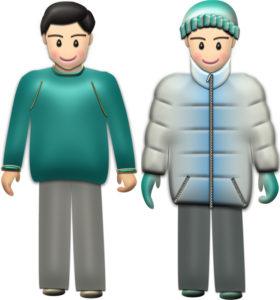 秋服・冬服の男性イラスト