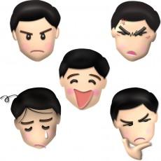 男性の顔・表情のイラスト