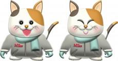 三毛猫・♂冬服のイラスト