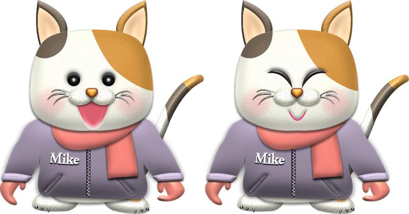 三毛猫・♀冬服のイラスト