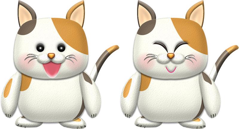 三毛猫キャラクター(基本)イラスト
