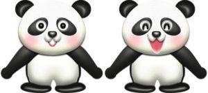 パンダの可愛いイラスト