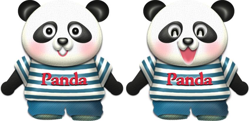 パンダ・♂夏服のイラスト