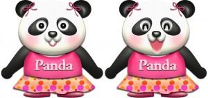 パンダ・♀夏服のイラスト