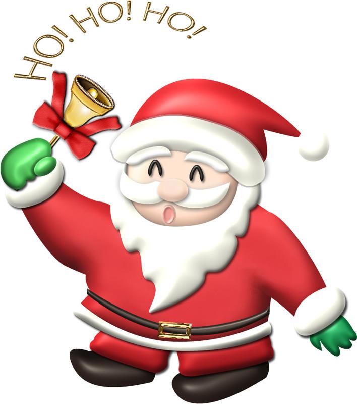 Ho! Ho! Ho! サンタクロースのイラスト