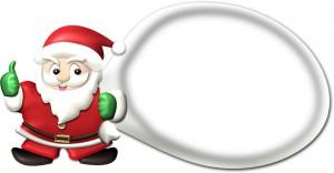 サンタクロースの袋の枠イラスト