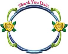 父の日の飾り枠イラスト・ThankYouDad