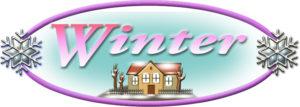 「Winter」の楕円ロゴ・デザイン