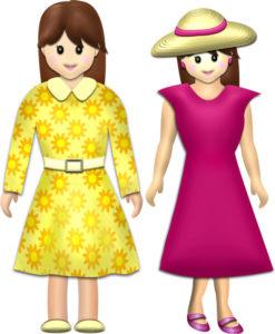 春服・夏服の女性イラスト