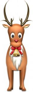 赤鼻のトナカイ・ルドルフのイラスト