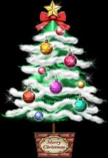 普通のクリスマスツリーのイラスト