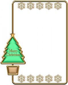 クリスマスツリーの枠イラスト