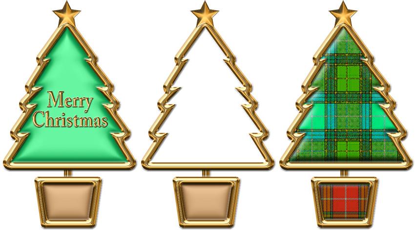 ミニ型クリスマスツリーのイラスト