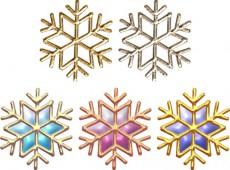 雪の結晶のイラスト