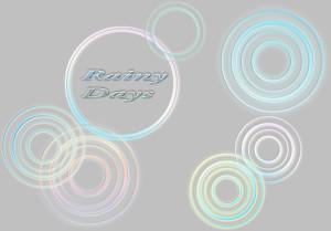 雨の輪をデザインしたイラスト