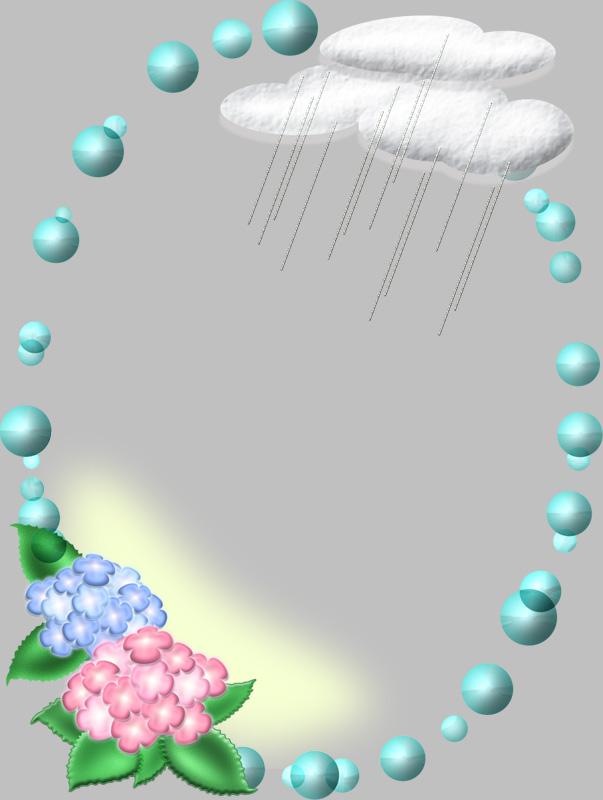 梅雨イメージの枠イラスト