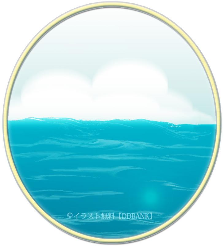 晴れた海のイラスト
