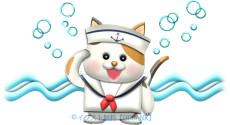 猫の水兵さんのイラスト