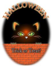 ハロウィンの黒猫イラスト