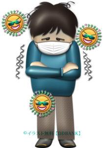 インフルエンザの症状・寒気のイラスト