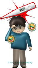 インフルエンザの症状・発熱のイラスト