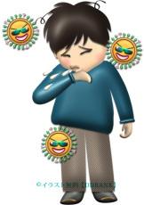 インフルエンザの症状・くしゃみのイラスト