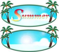 Summerロゴの無料イラスト