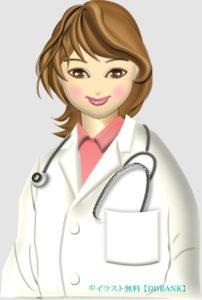 若くてキレイ名女医さんのイラスト